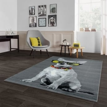 Forever Rugs Flair 33304-170 Grey Dog Rug
