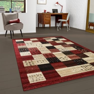 Forever Rugs Majestic 26292-710 Red Checked Rug