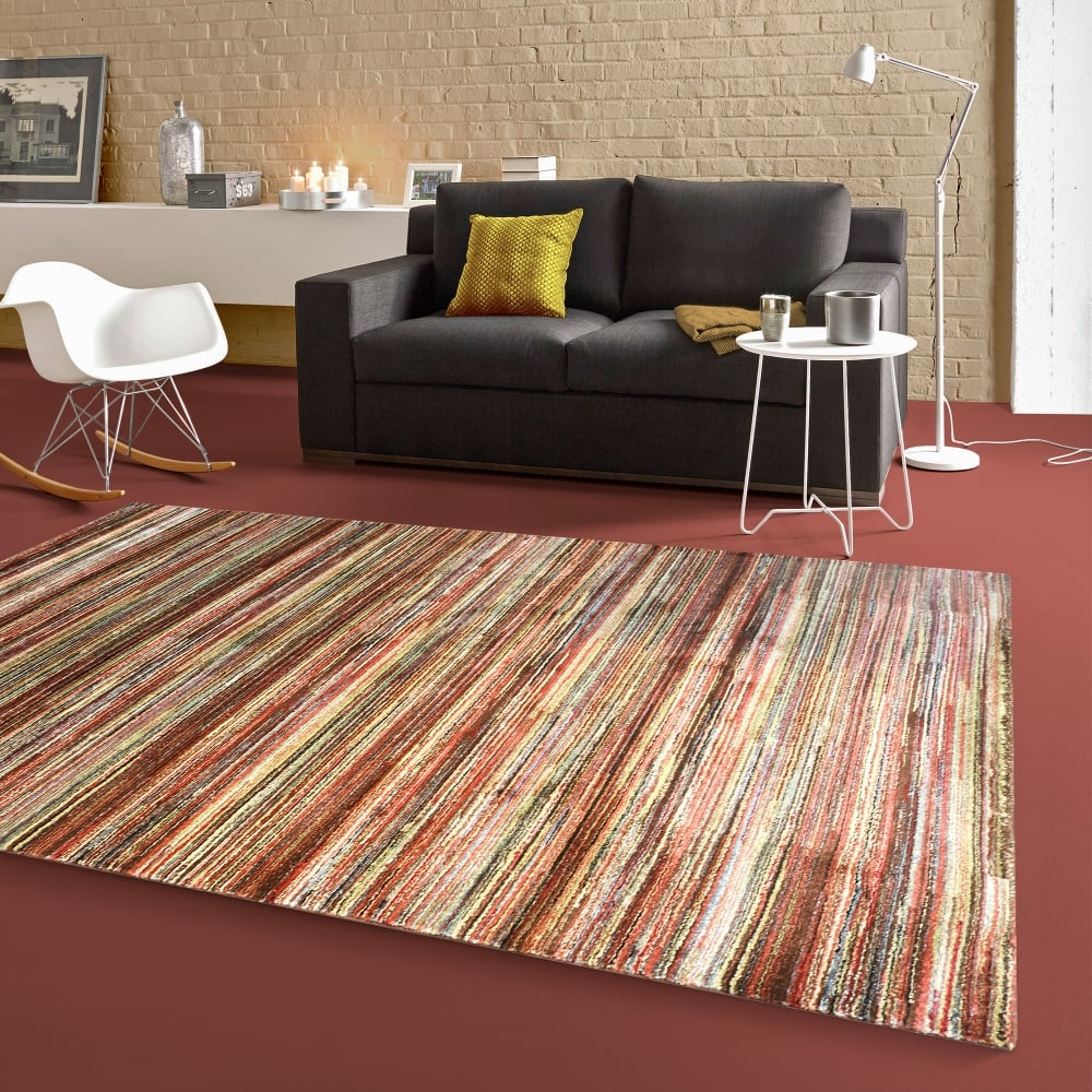 forever rugs majestic brown striped rug