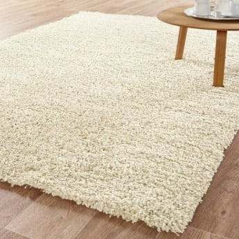 Forever Rugs Sunshine 70071-086 Polish Cream Shaggy Rug