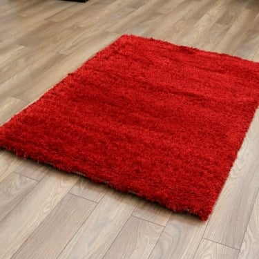 Sunshine Soft 57201-010 Red Shaggy Rug