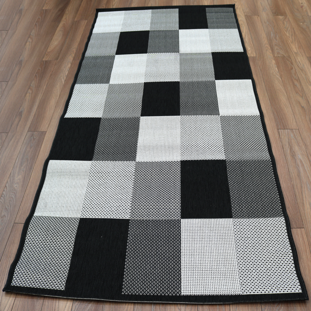 Forever rugs verano polypropylene dark check 2835 090 for Rugs for dark floors