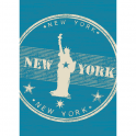 Forever Rugs Verano 48175-033 New York Blue Rug