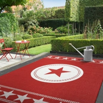 Forever Rugs Verano 48325-015 All Stars Red Rug