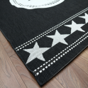 Forever Rugs Verano 48325-090 All Stars Black Rug