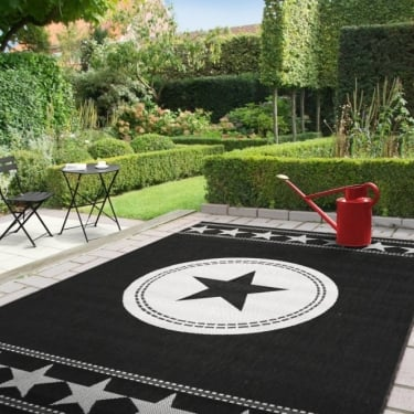 Verano 48325-090 All Stars Black Rug