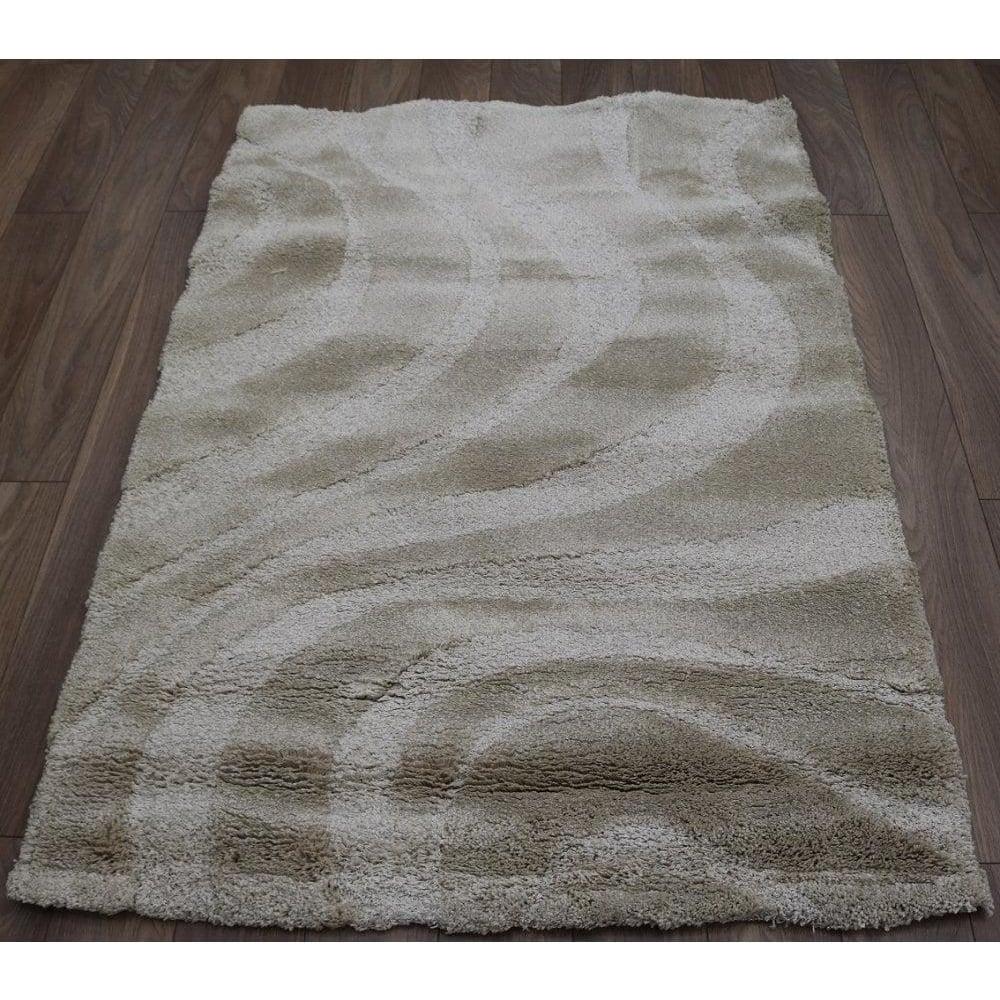forever rugs vogue beige wave shaggy rug