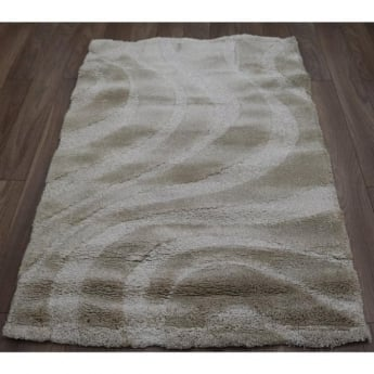Forever Rugs Vogue 50061-055 Beige Wave Shaggy Rug
