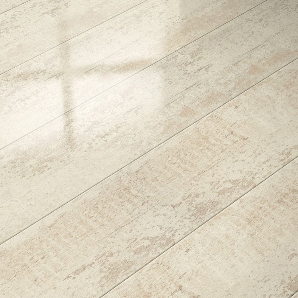 White Gloss Kitchen Flooring: Elesgo Glamour Life Antique White High Gloss Laminate Flooring