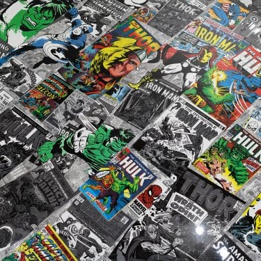 Glamour Life 8mm Marvel Comic High Gloss Laminate Flooring (772399)