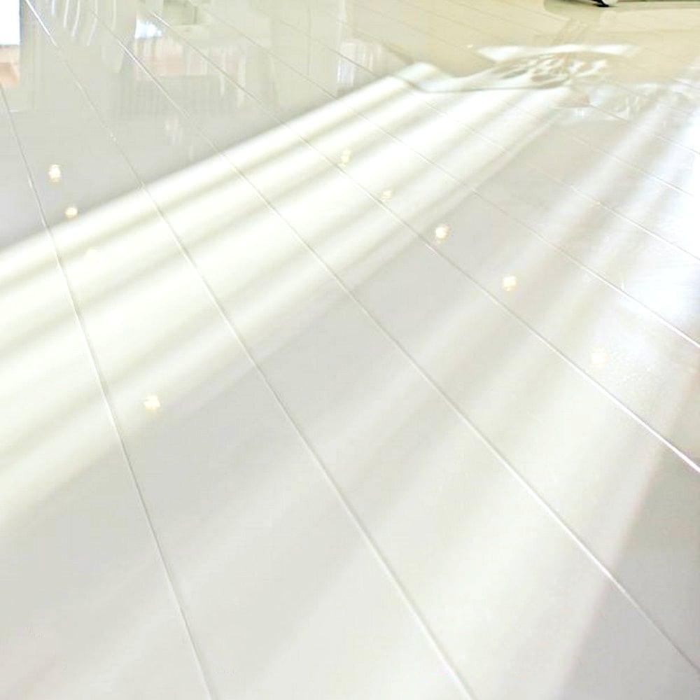 Glamour Life 8mm White High Gloss Laminate Flooring 774716