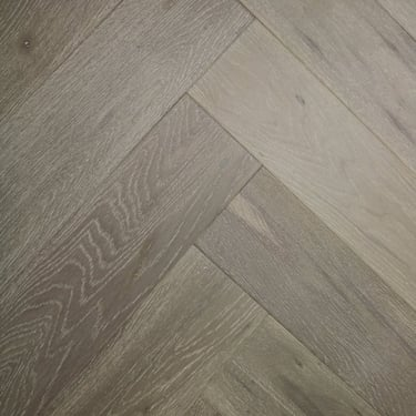Herringbone 15mm x 148mm Clay Oak Brushed & Matt Lacquered Engineered Real Wood Flooring (2967)