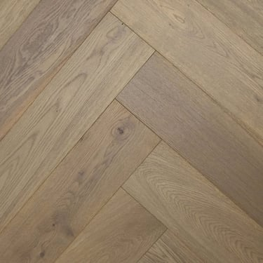 Herringbone 15mm x 148mm Platinum Grey Oak HPPC Oiled Engineered Real Wood Flooring (2817)