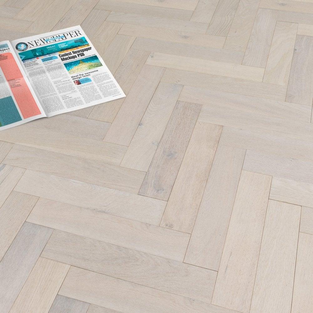 Liberty Floors Herringbone Parquet 14mm, White Herringbone Laminate Flooring