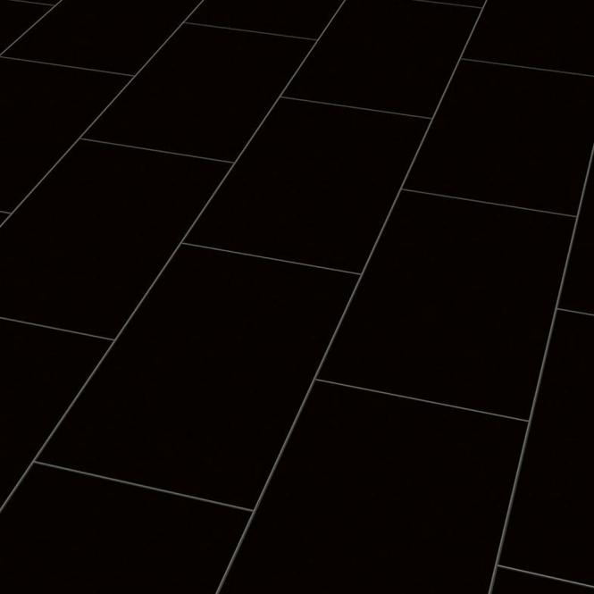 Falquon High Gloss Black Laminate Tile Flooring | Leader Floors