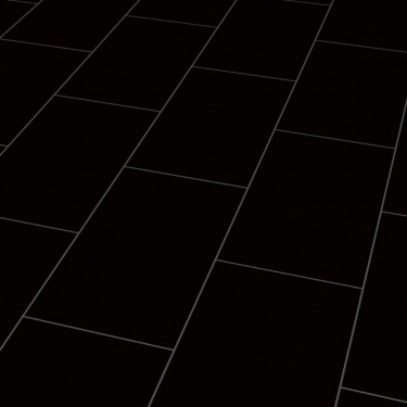 High Gloss 4V 8mm Black Tile Laminate Flooring (U190)