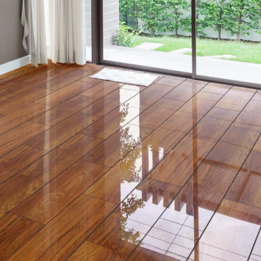 High Gloss 4V 8mm Plateau Merbau Laminate Flooring (D2916)