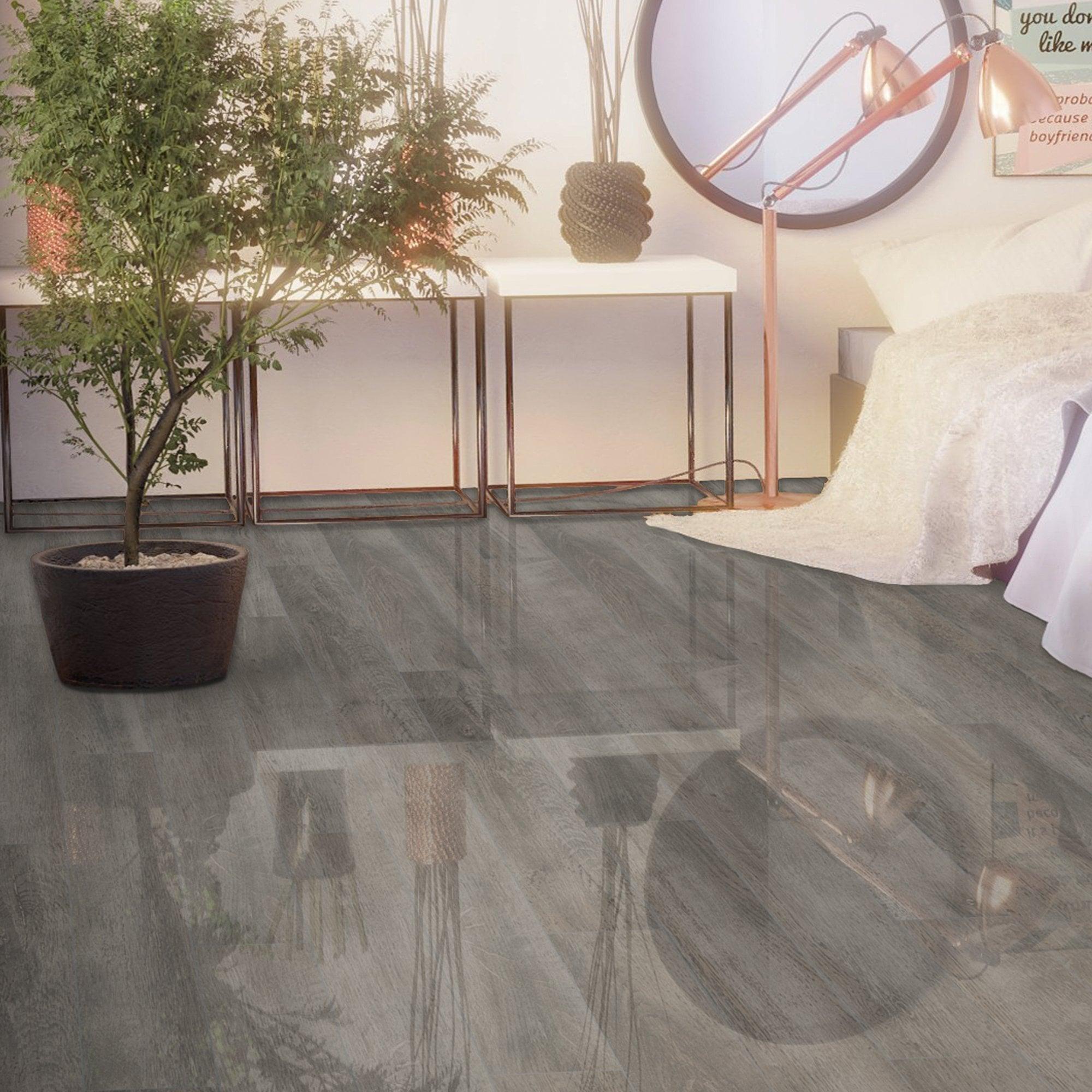 High Gloss Laminate Flooring D4187, Super Gloss White Laminate Flooring