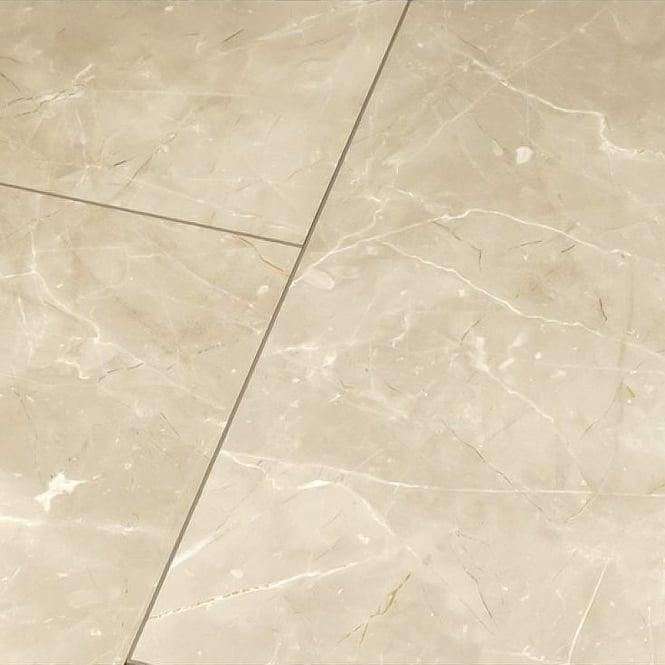 Falquon High Gloss Botticino Classico Light Laminate Tile Flooring