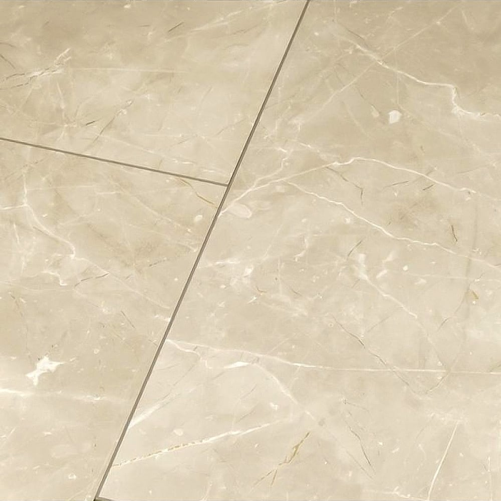 Grey high gloss flooring high gloss 4v stone effect botticino classico light laminate flooring tile d2911 dailygadgetfo Gallery
