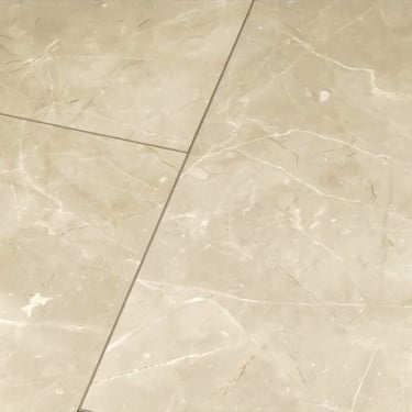 Falquon Flooring High Gloss 4V Stone Effect Botticino Classico Light Laminate Flooring Tile (D2911)