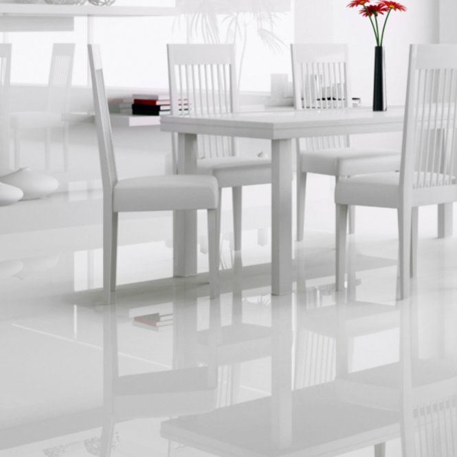 Falquon High Gloss Flat Edge White Laminate Flooring Leader Floors