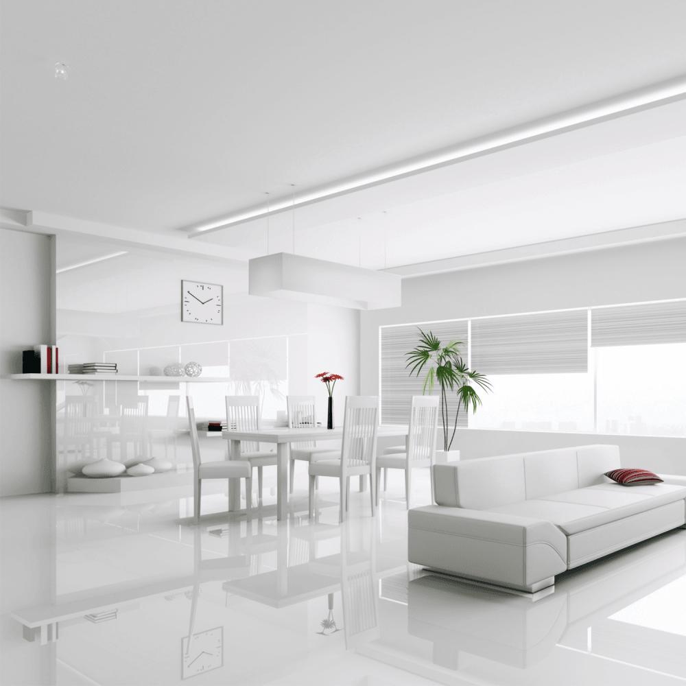 Falquon Flooring High Gloss Max 8mm, White Gloss Laminate Flooring