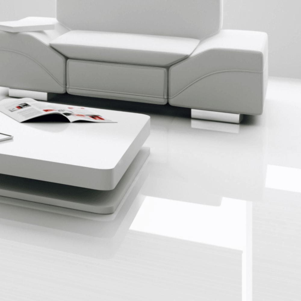 Falquon Flooring High Gloss Max 8mm, Super Gloss White Laminate Flooring