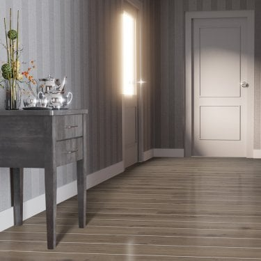 High Gloss Silver Strip 8mm Virginia Oak Laminate Flooring (D3531)