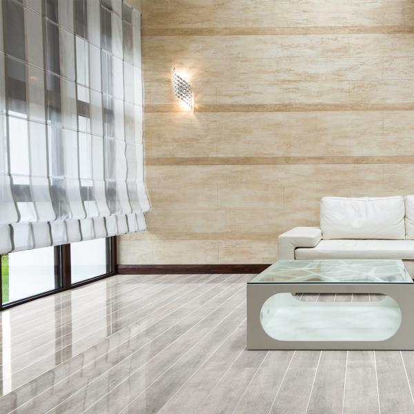 Falquon flooring white oak silver strip high gloss for White laminate flooring