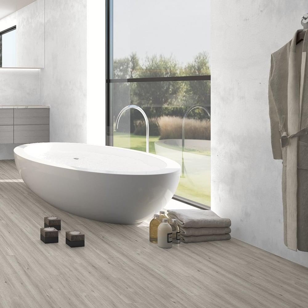 Impressive Ultra 12mm Saw Cut Grey Oak Waterproof Laminate Flooring  (IMU1858)