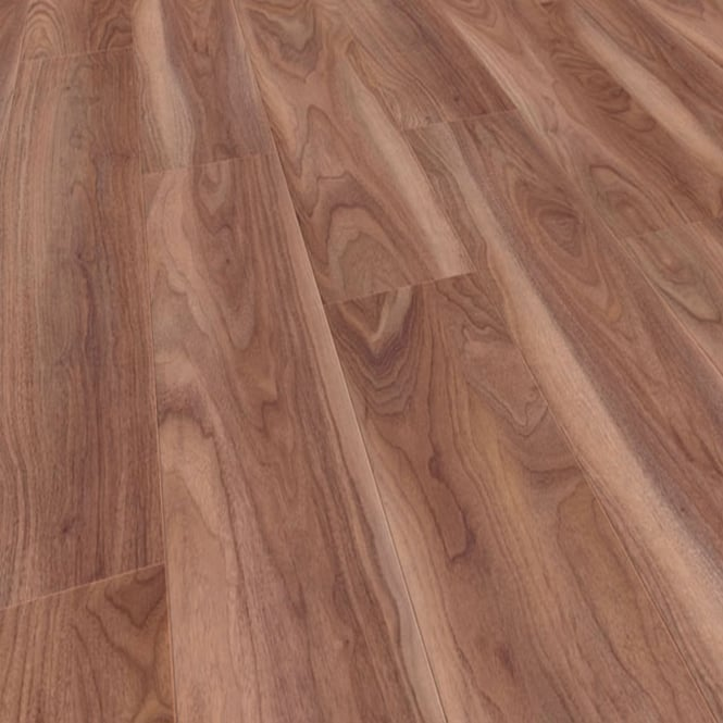 Natural Touch Narrow 10mm Varnished Walnut 4v Groove Laminate Flooring (7293)