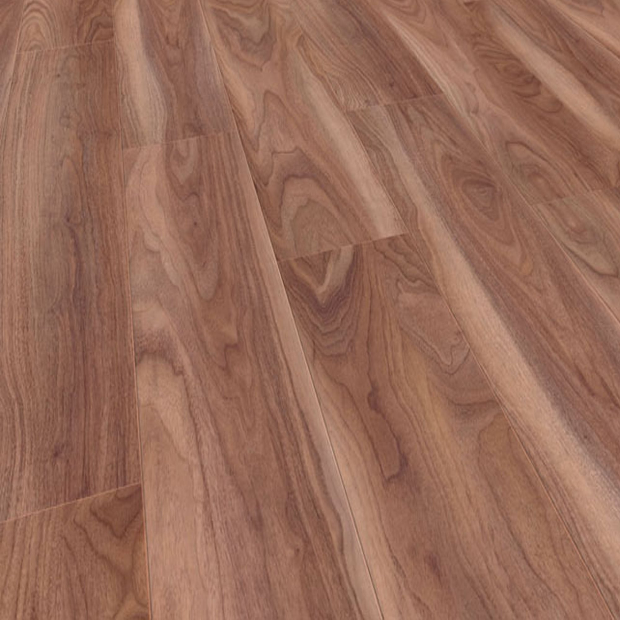 Kaindl natural touch narrow 10mm varnished walnut laminate for Walnut laminate flooring
