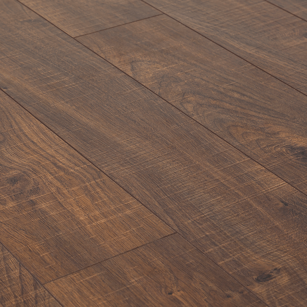 Kaindl natural touch wide 10mm dark oak sawn laminate for Natural oak wood flooring