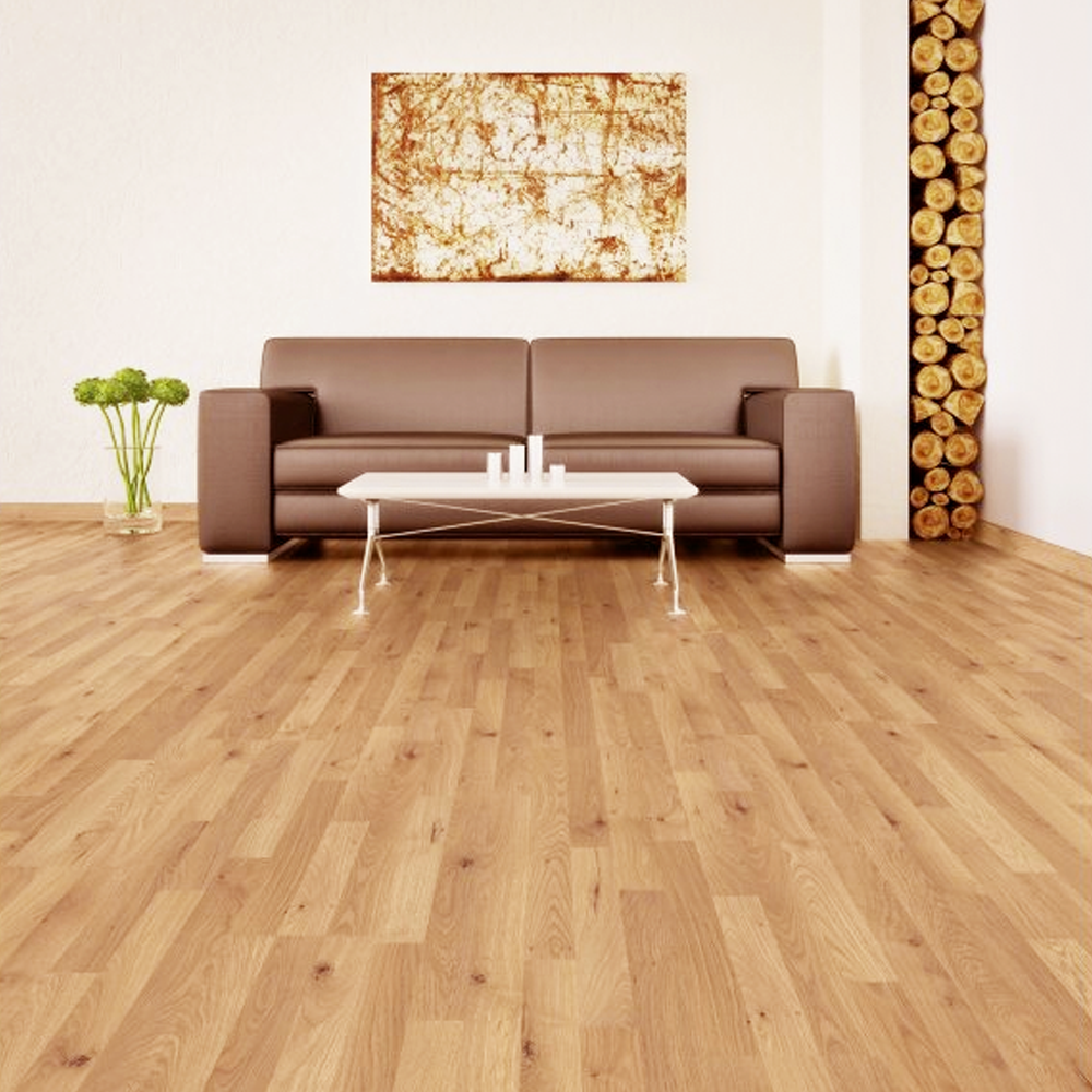 Krono original kronofix 7mm honey oak flat edge laminate for Laminate flooring sale