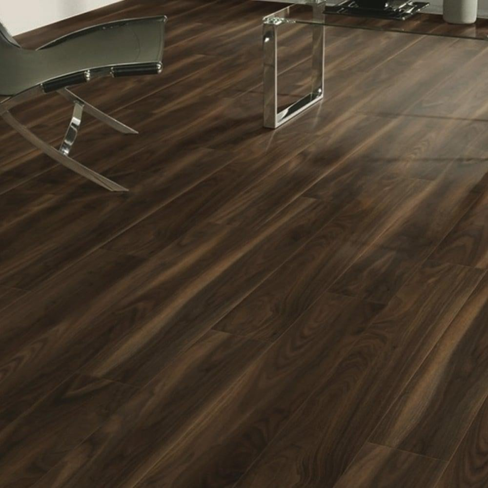 Krono original vario 8mm rich walnut laminate flooring for Walnut laminate flooring