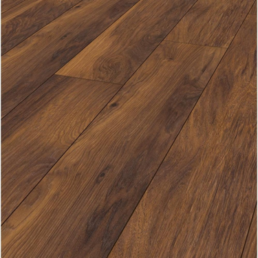 Krono Original Vintage Narrow 10mm Red River Hickory 4v Groove Handscraped Laminate Flooring (8156)