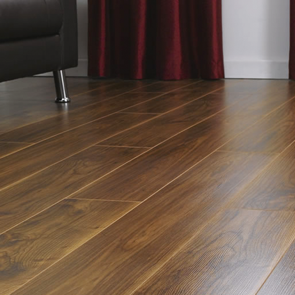Krono original 7mm virginia walnut laminate flooring at for Walnut laminate flooring