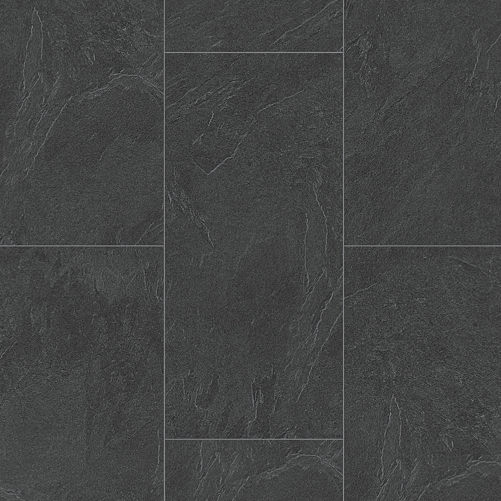 LB85 Classic 8mm Slate Anthracite Tile Laminate Flooring 6137