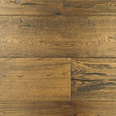 Wood Plus Limited 20/6x190mm Antique Dark Brown Engineered Oak Flooring