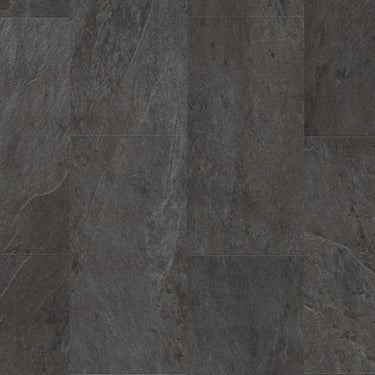Livyn Ambient Click 4.5mm Black Slate Matt Waterproof Tile Luxury Vinyl Flooring (AMCL40035)