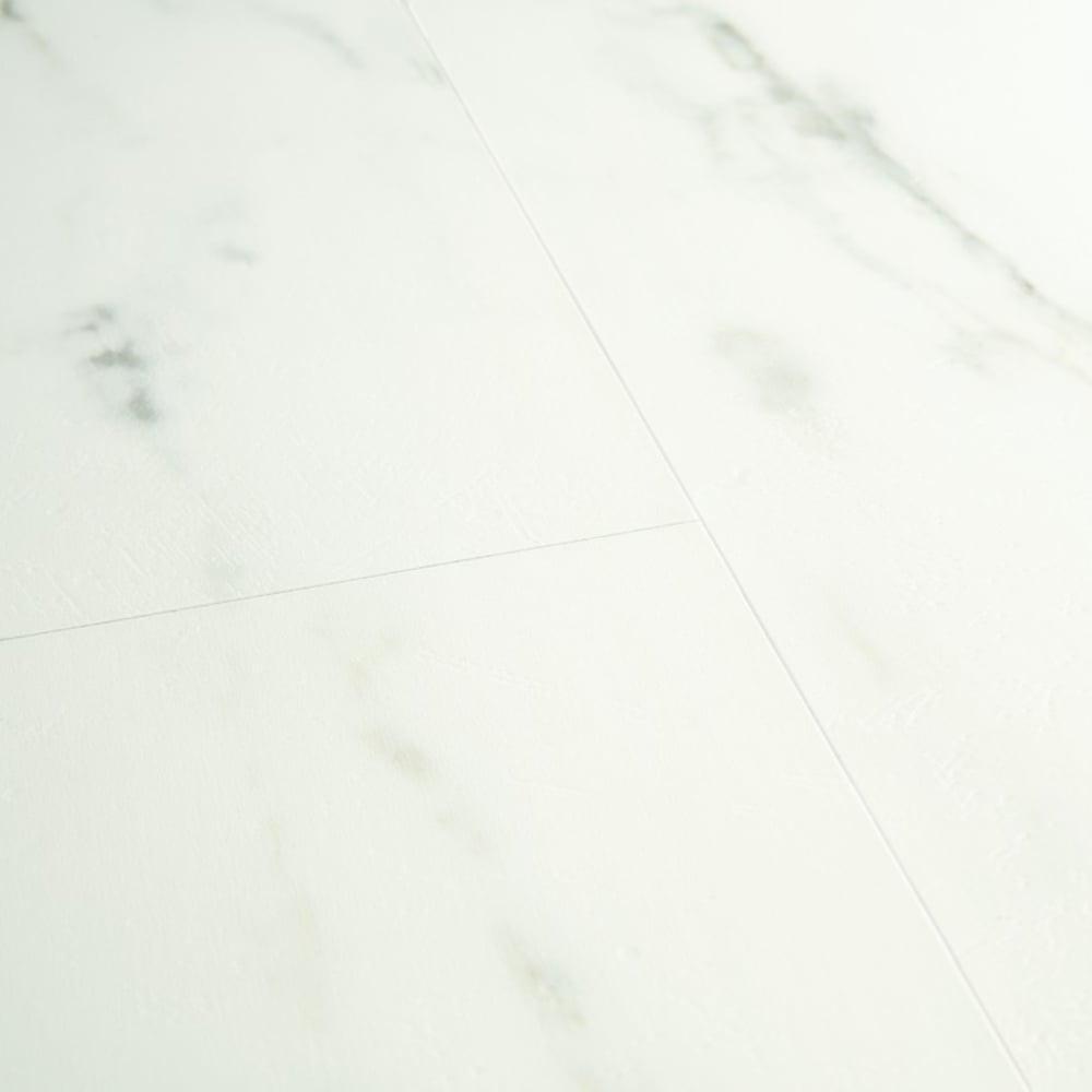 Livyn Ambient Click 4.4mm Marble Carrara White Waterproof Tile Luxury Vinyl  Flooring (AMCL4)