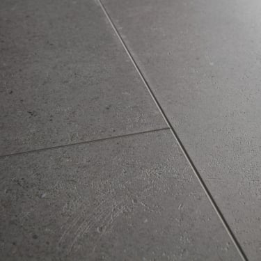 Livyn Ambient Click 4.5mm Vibrant Medium Grey Matt Waterproof Tile Luxury Vinyl Flooring (AMCL40138)