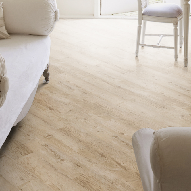 Luvanto Glue Down Wood Effect Bleached Larch Wood Emboss 152x914mm Luxury Vinyl Flooring Plank (QAF-LVP-05)