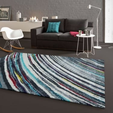 Forever Rugs Majestic 25112-053 Blue Stripe Rug