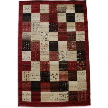Majestic 26292-710 Red Checked Rug