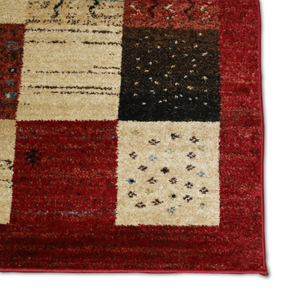 Forever Rugs Majestic Polypropylene Red Rectangular
