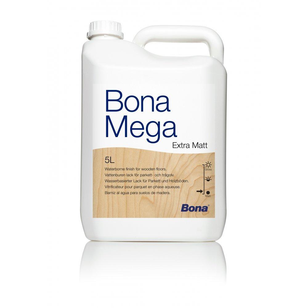 Bona mega 5l polyurethane wooden floor treatment matt for Bona wood floor cleaner 5l