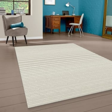 Model 40127-060 Beige Striped Rug