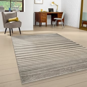 Forever Rugs Model 40127-070 Beige Stripe Rug
